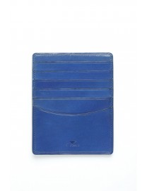 GRAND PORTE CARTES CUIR BLEU