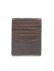 GRAND PORTE CARTES CUIR MARRON