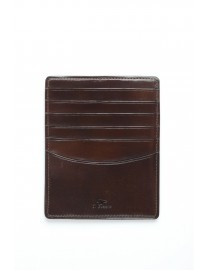 GRAND PORTE CARTES CUIR MARRON FONCE