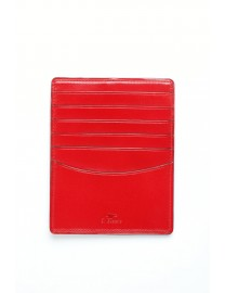 GRAND PORTE CARTES CUIR ROUGE
