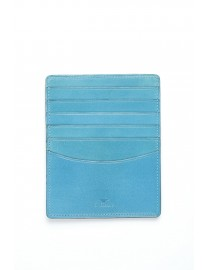 GRAND PORTE CARTES CUIR TURQUOISE