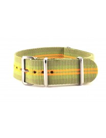 BRACELET NATO BEIGE ET ORANGE - NATO NYLON
