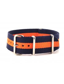 BRACELET NATO BLEU ORANGE - NATO NYLON