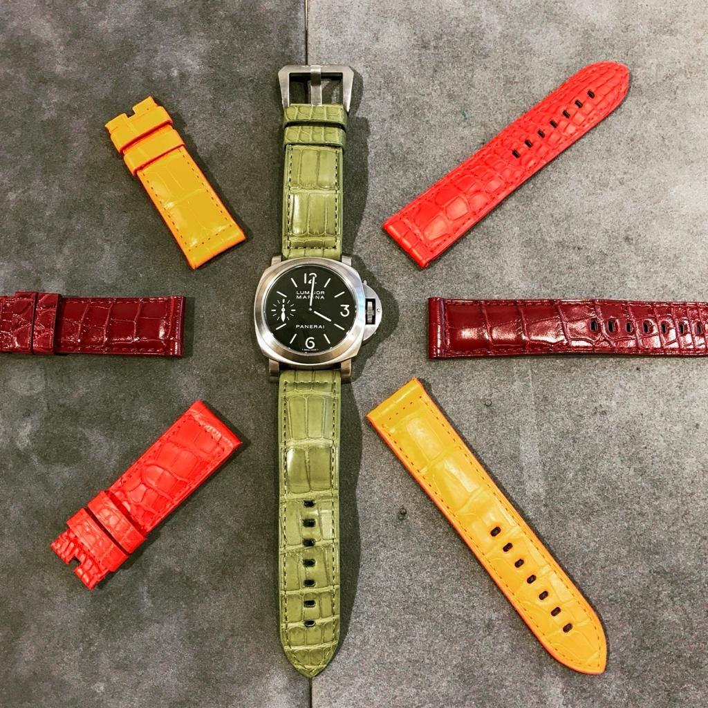 Bracelet montre alligator Panerai Luminor Commander